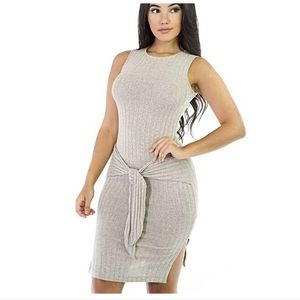 GitiOnline Boutique Tie Front Bodycon Dress